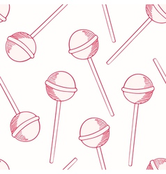 Oitline sketches candies seamless pattern vector