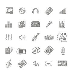 Recording media icon set vector