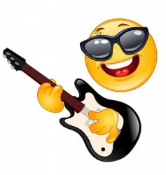 rock emoticon vector image vector image