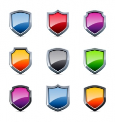 shield icons vector image
