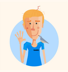 simple cartoon avatar vector image