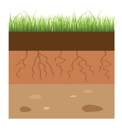 Soil layers vector