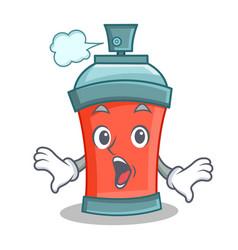 Surprised aerosol spray can character cartoon vector