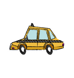 Taxi car transport public travel urban vector