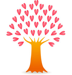 Tree love pink vector