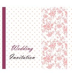 Vintage retro Wedding invitation vector image vector image