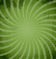 Vintage spiral green background vector image