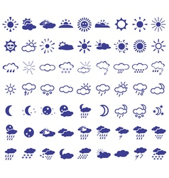 weather icons on white vector image vector image