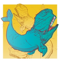 Whale fashion t-shirt vector