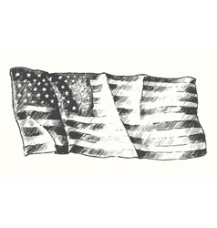 Usa flag isolated drawn sketch vector
