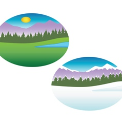 Summer winter seasons vector