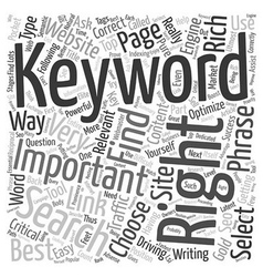 How to choose the right keyword text background vector