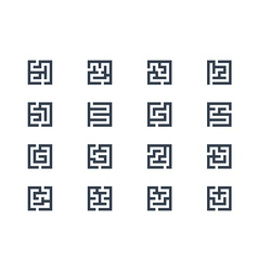 Abstract maze symbols vector