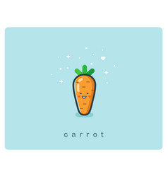 Flat icon of carrot cute vegetable cartoon vector