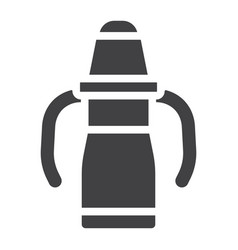 Sippy cup solid icon baby cup and bottle vector