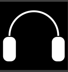 Headphone the white color icon vector