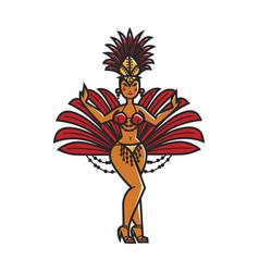 Woman carnival dancer vector