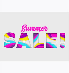 Summer sale banner on isolated background vector
