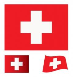 Switzerland flag set vector image