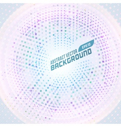 Abstract geometric circle dots color background vector image
