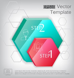 3d hexagon plastic glossy element for infographic vector