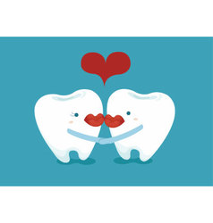Lover teeth vector
