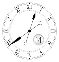 Clock antique black vector