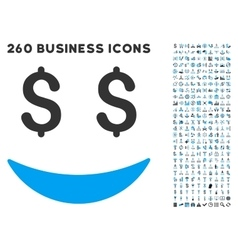 Businessman smile icon with flat set vector