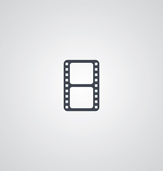 movie logotype theme vector image