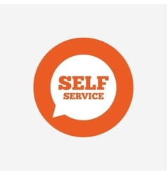 Self service sign icon maintenance symbol vector