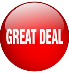 Great deal red round gel isolated push button vector
