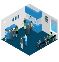 Bank Office Isometric Concept vector image vector image