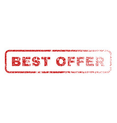 best offer rubber stamp vector image vector image