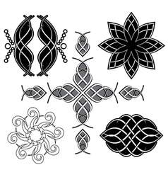 black tracery for design vector image
