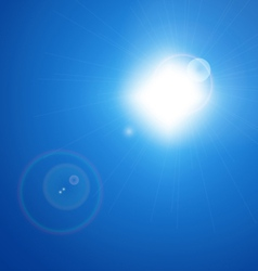 Blue Sky with Sun vector image