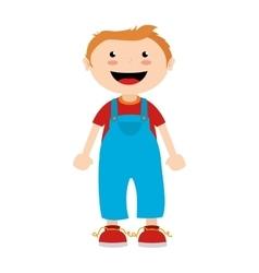 Boy cartoon happy isolated design vector