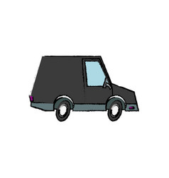 Car van delivery business vehicle transport vector