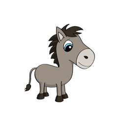 Cartoon of a cute donkey vector