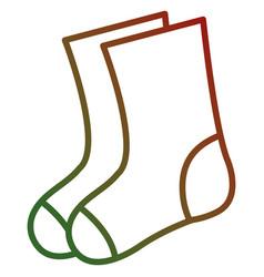Christmas sock decorative icon vector