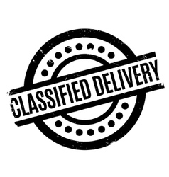 Classified delivery rubber stamp vector