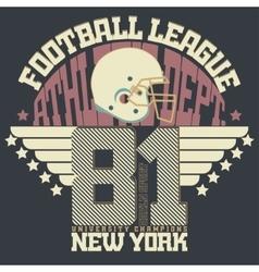 Football print sportswear vector
