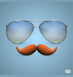 glasses with a mustache vector image
