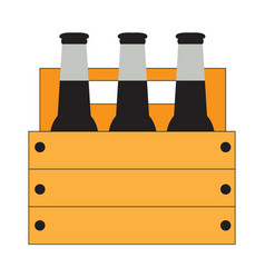 Group of beer bottles vector