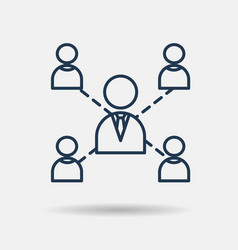 icon of leadership teamwork and cooperation vector image