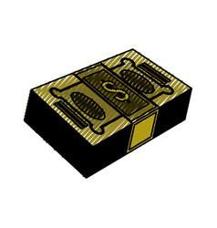 isolated green money bills vector image vector image