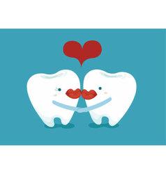 Lover teeth vector