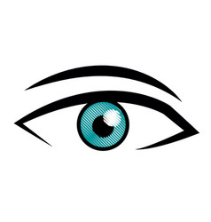 Male eye view look vision image vector