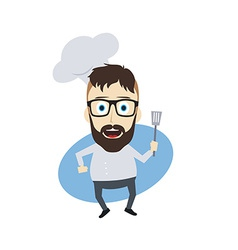 master chef cartoon vector image