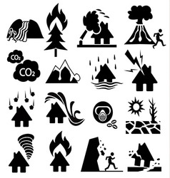 Natural disaster icon vector