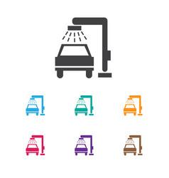 Of vehicle symbol on auto vector